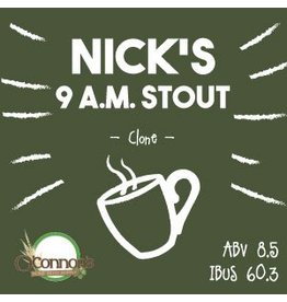 OConnors Home Brew Supply Nick's 9am Stout