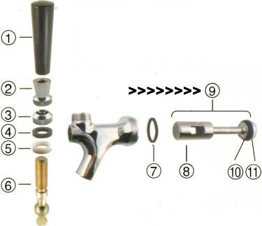 Krome Faucet Plunger Assembly