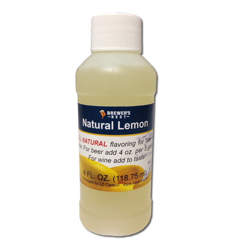 Brewers Best Lemon Flavoring Extract 4 oz (All Natural)