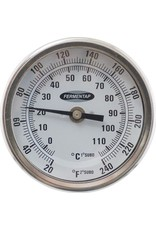 Fermentap Dial Thermometer - 3 in. Face x 2.5 in. Probe