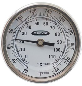"Dial Thermometer (1/2"" MPT)(3"" Probe)"