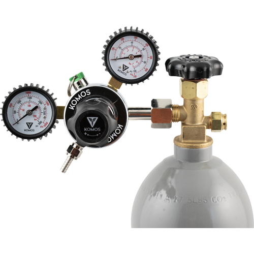 Keg King KOMOS® Dual Gauge CO2 Regulator