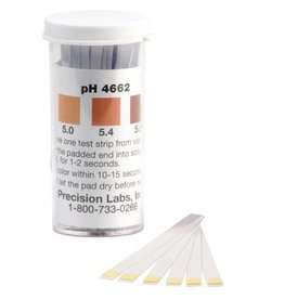 Precision Labs Inc. pH Papers 100/Vial (4.6-6.2)(Beer)