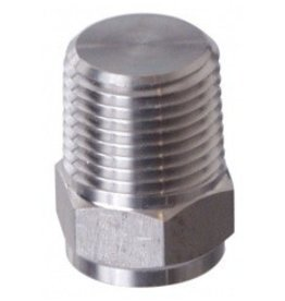 """Brewmaster Plug 1/2"""" MPT Solid (SS)"""