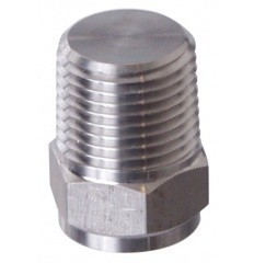 "Brewmaster Plug 1/2"" MPT Solid (SS)"
