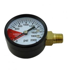 "Taprite Order Gas Gauge 2"" 2000# 1/4MPT (LHT)(SIDE)"