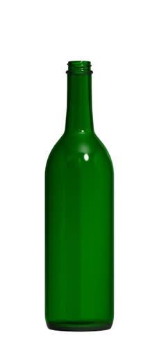 LD Carlson Screw top 750mL Green Claret Wine Bottles 12/Case