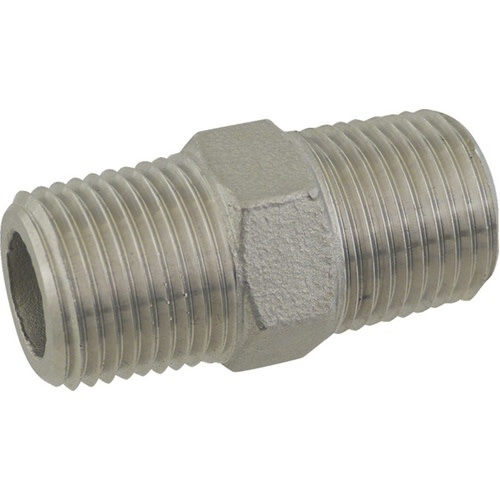 Brewmaster Stainless Hex nipple - 1/2 NPT