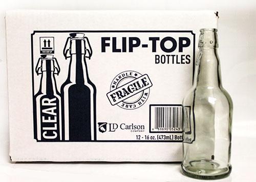 LD Carlson Flip-Top Bottles 16 oz