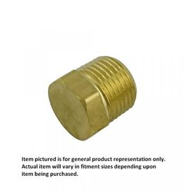 "Foxx Equipment Company Hex Plug 1/4"" MPT (Brass)"