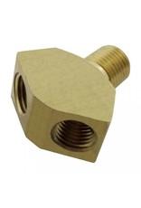 """Foxx Equipment Company Wye Fitting 1/4"""" MPT X 1/4"""" MFL (Brass)"""
