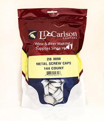 LD Carlson Metal Screw Cap 144/Bag (28 mm)