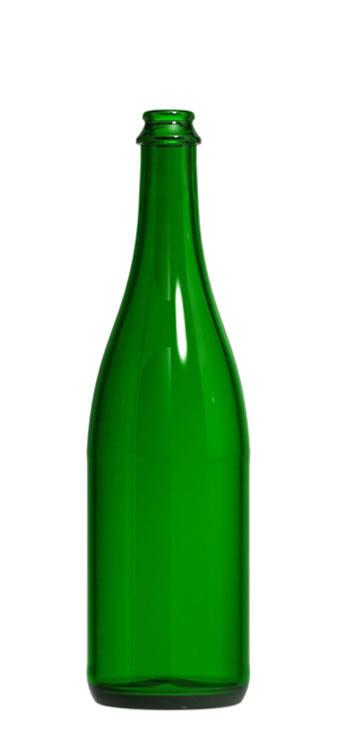 LD Carlson 750 mL Green Champagne Bottles 12/Case