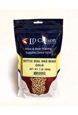 LD Carlson Bottle Seal Wax 1 lb (Gold)