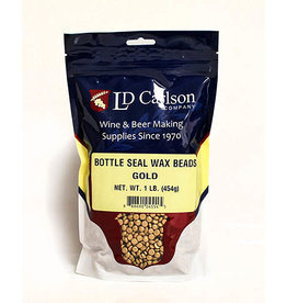 LD Carlson Bottle Seal Wax 1 lb (Gold)