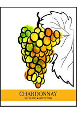 LD Carlson Wine Labels 30 Count (Chardonnay)
