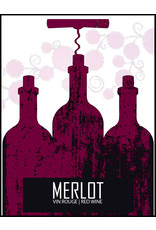 LD Carlson Wine Labels 30 Count (Merlot)