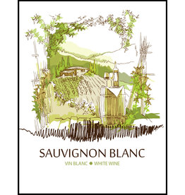 LD Carlson Wine Labels 30 Count (Sauvignon Blanc)