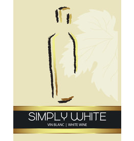 LD Carlson Wine Labels 30 Count (White)