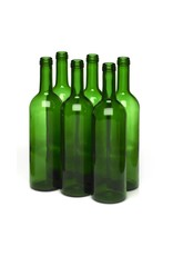 LD Carlson 750 mL Green Bordeaux Flat Bottom 12/Case