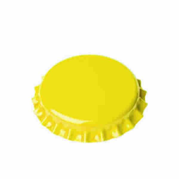 Crown Cap W/Oxy-Liner 144/Bag (Yellow)