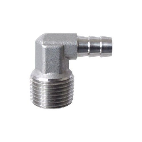 Stainless - 1/2 in. mpt X 3/8 in. Barb Elbow