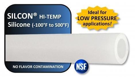 "Foxx Equipment Company Silicone Tubing 5/16"" ID X 1/2"" OD Per/Ft (High Temp)"