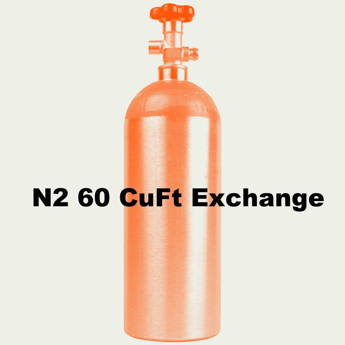 Purity Cylinder Gases N2 Tank Exchange (60 CuFt/H15)