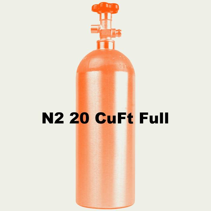 Purity Cylinder Gases N2 Tank Full (20 CuFt)