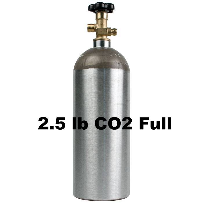 Purity Cylinder Gases CO2 Tank Full (2.5 lb)