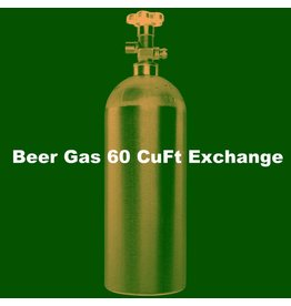 Purity Cylinder Gases Beer Gas Tank Exchange (60 CuFt/H15)
