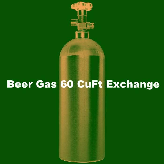 Purity Cylinder Gases Beer Gas Tank Exchange (60 CuFt/H15)
