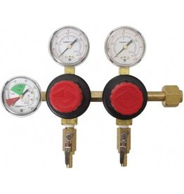 "CO2 Regulator Double Body 5/16"" Barbs"