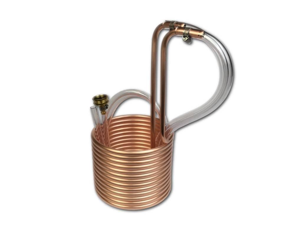 "Coldbreak Brewing Immersion Wort Chiller 25' Compact 3/8"" OD (Copper)"