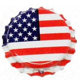 Crown Cap W/Oxy-Liner 144/Bag (American Flag)
