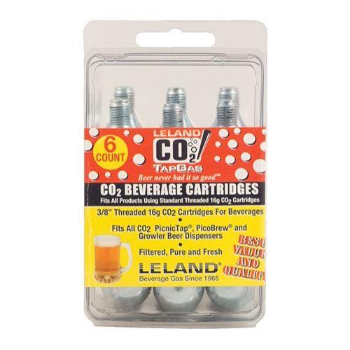 Leland Gas Technologies 16g Threaded CO2 Cartridge (6 Pack)