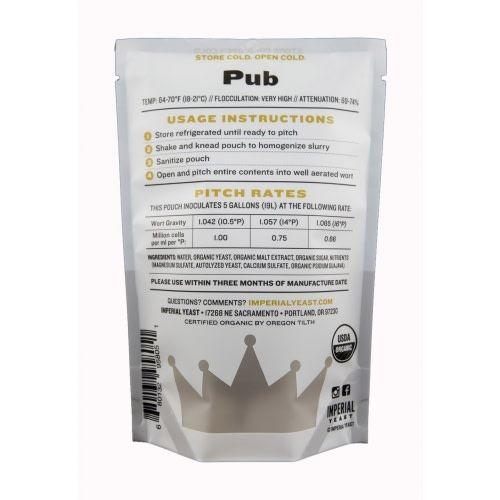 Imperial Yeast Imperial Organic Yeast (Pub)