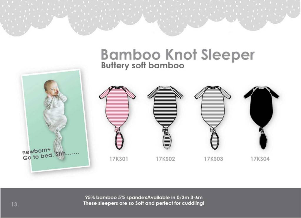 bdba870ebe01 Earth Baby Outfitters Bamboo Knot Sleeper - Earth Baby Outfitters Inc