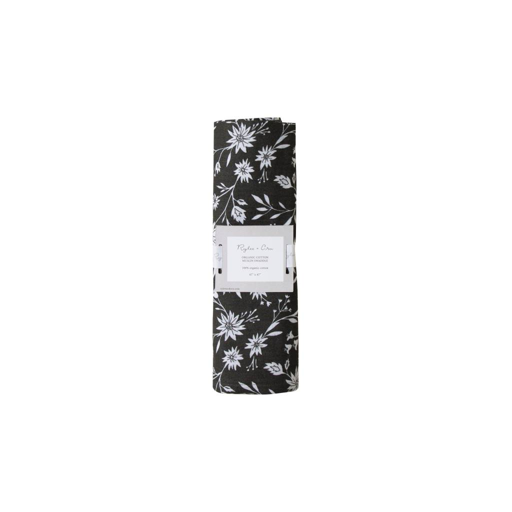 RYLEE AND CRU Organic Swaddle Midnight Floral