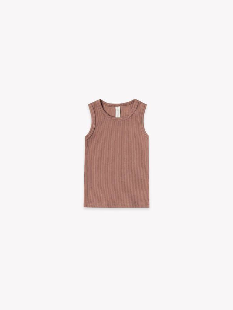 QUINCY MAE Organic Ribbed Jersey Tank