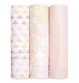 ADEN + ANAIS Metallic Primrose Birch 3-Pack Silky Soft Swaddles