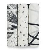 ADEN + ANAIS Midnight 3-Pack Silky Soft Swaddles