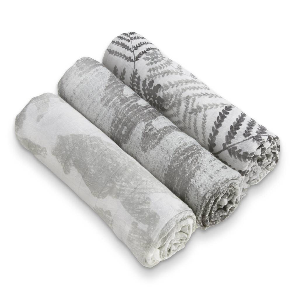 ADEN + ANAIS Foragers 3-Pack Silky Soft Swaddles