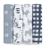 ADEN + ANAIS Waverly 4-Pack Classic Swaddles