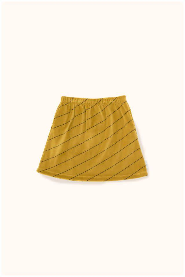 TINY COTTONS Diagonal Stripes Plush Skirt