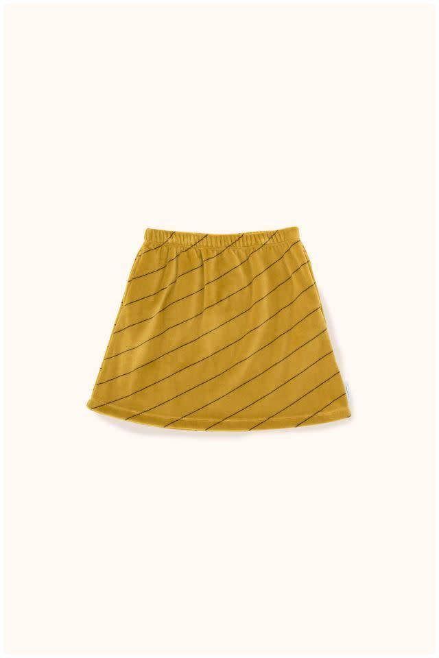 TINY COTTONS Diagonal Stripes Plush Skirt