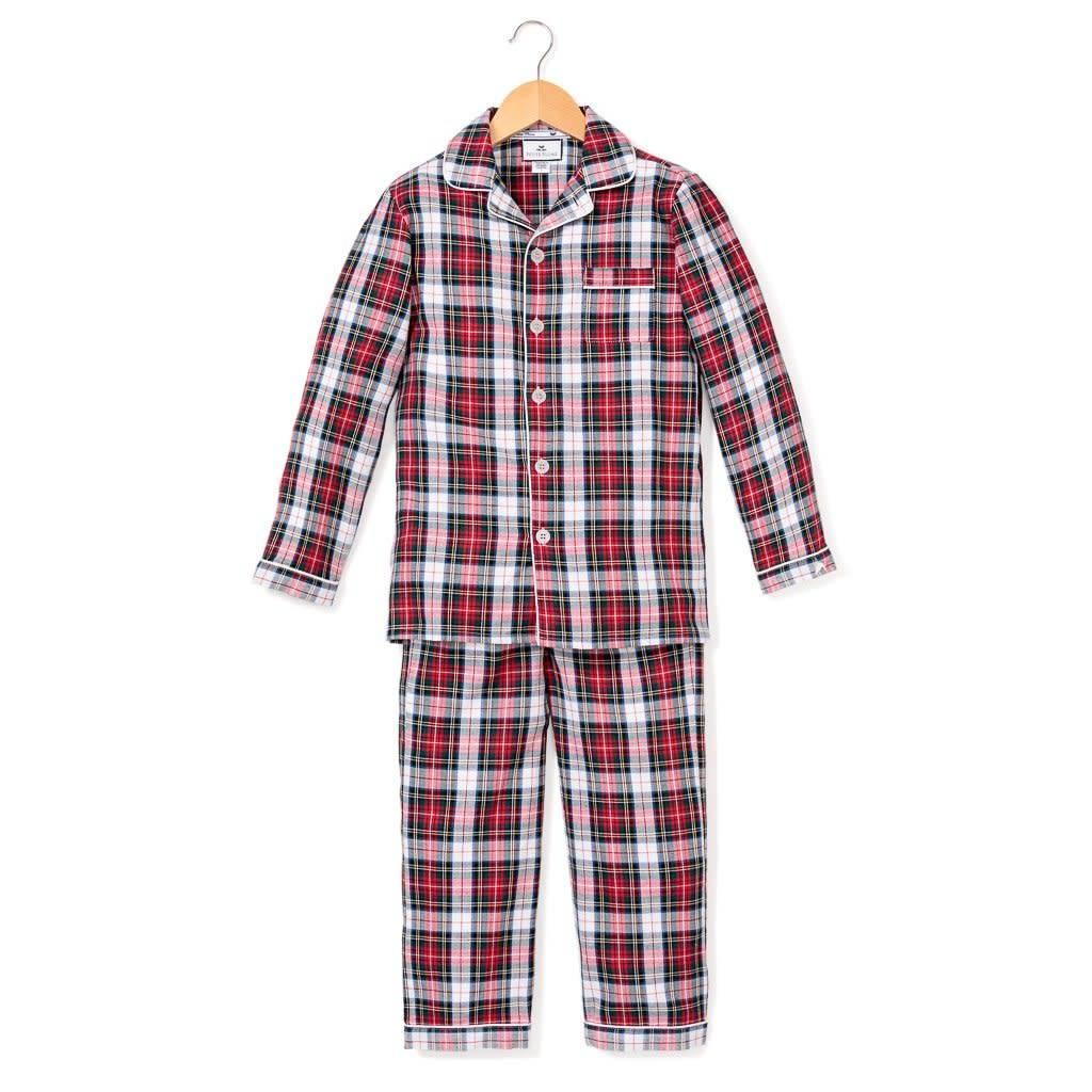 PETITE PLUME Festive Tartan Pajama Set