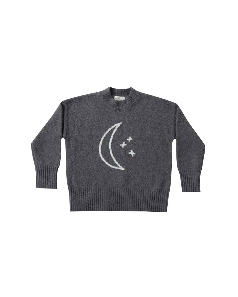 RYLEE AND CRU Moon Embroidered Cassidy Sweater