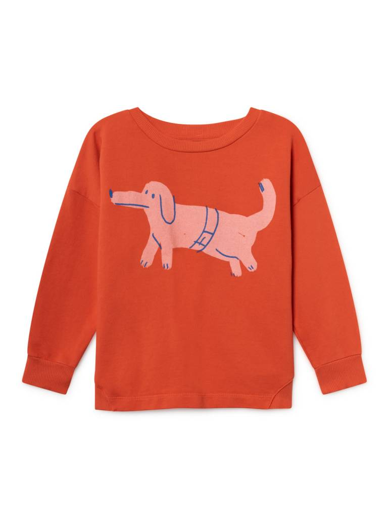 BOBO CHOSES Paul's Dog Round Neck Sweatshirt