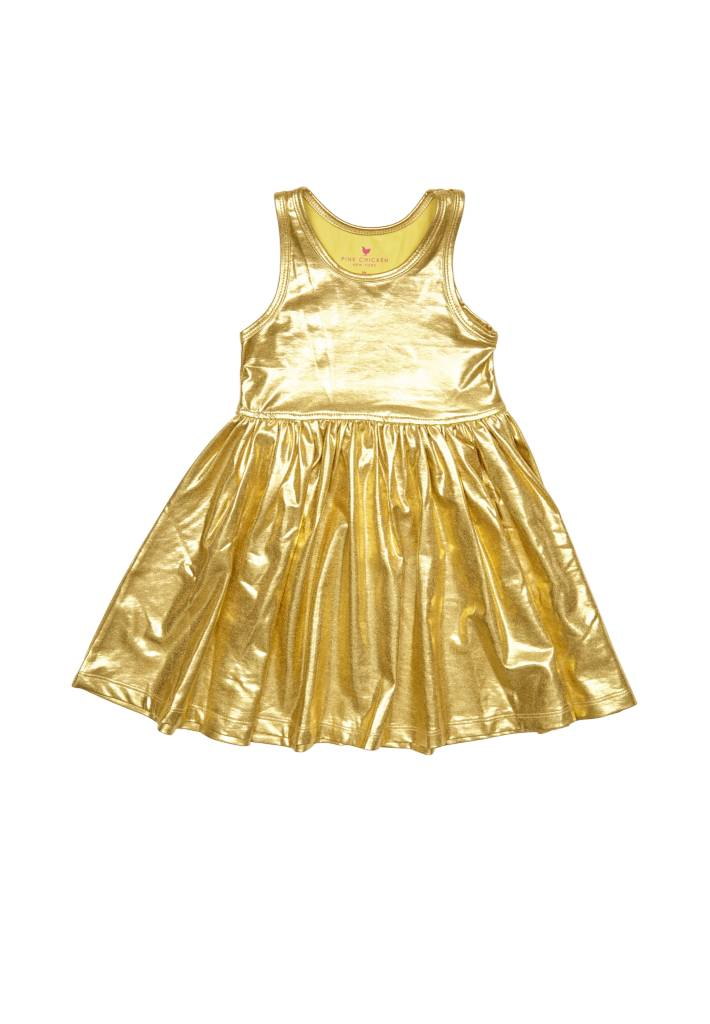 PINK CHICKEN Liza Lame Dress